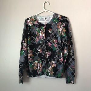 Talbots floral cardigan